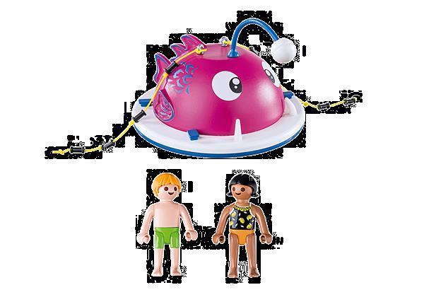 Grote foto playmobil family fun 70613 beklimmen zwemeiland kinderen en baby duplo en lego