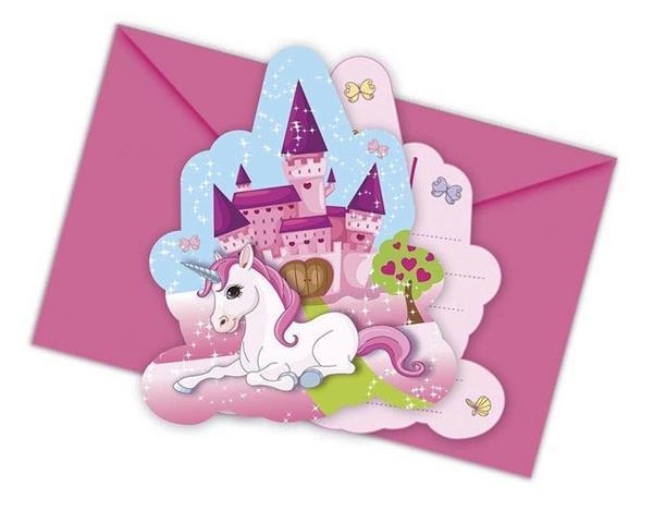 Grote foto unicorn uitnodigingen versiering 6st verzamelen overige verzamelingen