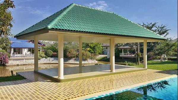 Grote foto landhuis bij chiangrai noord thailand. huizen en kamers bestaand buiten europa