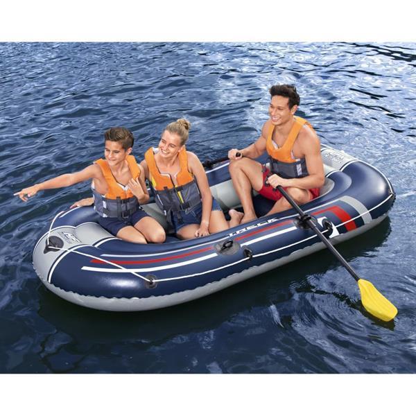 Grote foto bestway opblaasbootset hydro force treck x2 255x127 cm watersport en boten roeiboten