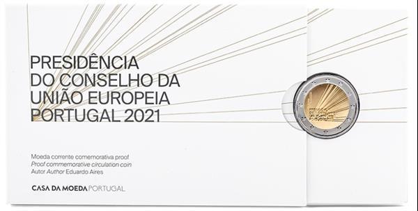 Grote foto portugal 2 euro 2021 voorzitter eu proof verzamelen munten overige