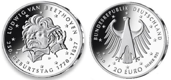 Grote foto duitsland 20 euro 2020 ludwig van beethoven verzamelen munten overige