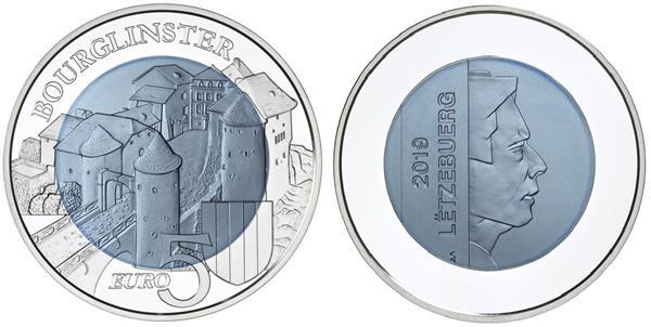 Grote foto luxemburg 5 euro 2019 ch teau de bourglinster verzamelen munten overige