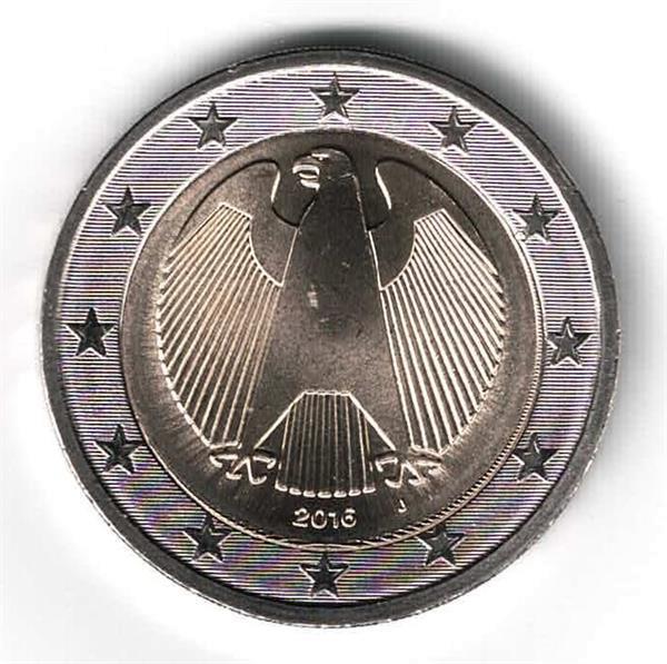 Grote foto duitsland 2 euro 2016 normaal j hamburg verzamelen munten overige