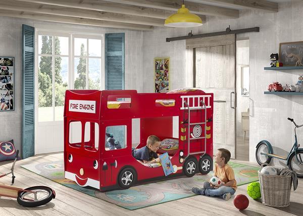 Grote foto brandweerwagen stapelbed kinderen en baby complete kinderkamers