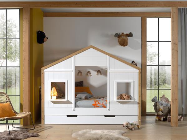 Grote foto babs 90 huisbed met open dak kinderen en baby complete kinderkamers
