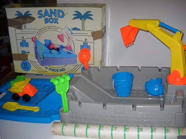 Grote foto zandbak 11delig 117 cm lang kinderen en baby overige