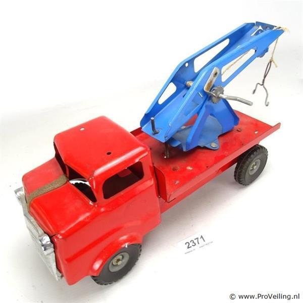Grote foto online veiling vintage ijzeren takelwagen verzamelen speelgoed