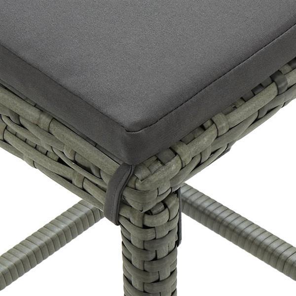 Grote foto vidaxl barkrukken met kussens 4 st poly rattan grijs huis en inrichting krukken en barkrukken