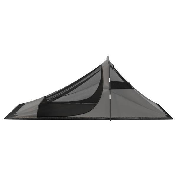 Grote foto vidaxl tent 317x240x100 cm oranje en grijs caravans en kamperen kampeertoebehoren