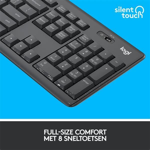 Grote foto mk295 silent wireless combo toetsenbord rf draadloos qwerty computers en software overige computers en software
