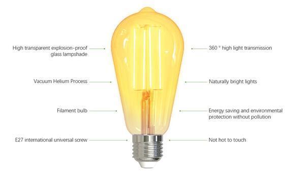 Grote foto mycket tuya led lamp e27 filament lamp warm licht di verzamelen overige verzamelingen