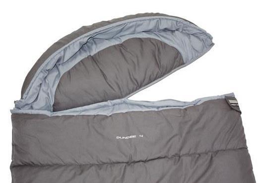 Grote foto slaapzak dundee 4 polykatoen 230 x 90 cm grijs blauw caravans en kamperen overige caravans en kamperen