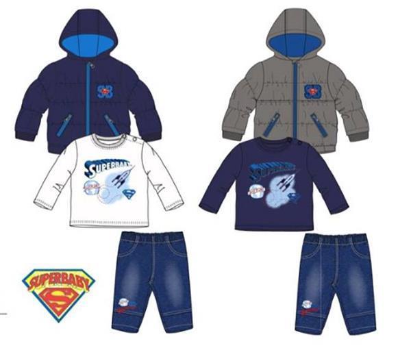 Grote foto superman 3 delig set winterjas jeans shirt blauw 6 ma kinderen en baby overige