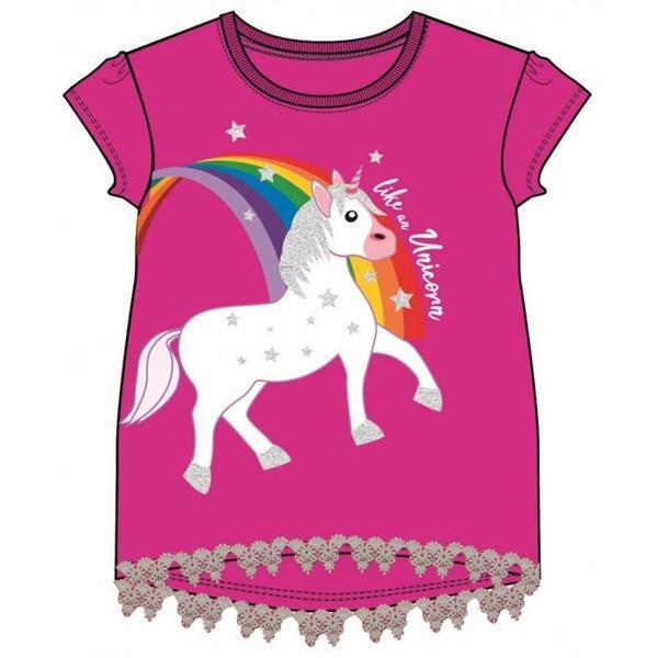 Grote foto unicorn fuchsia donkerroze shirt unicorn donkerroze shir kinderen en baby overige