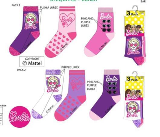 Grote foto barbie sokken 6 paar maat 31 34 6 paar kinderen en baby schoenen voor meisjes
