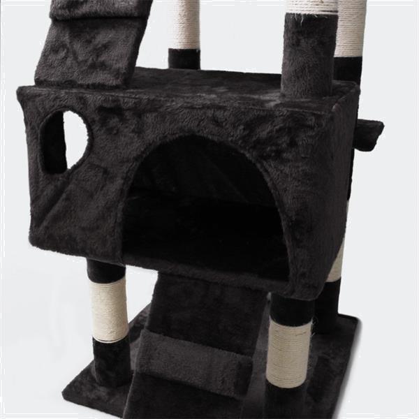 Grote foto krabpaal krabboom kattenboom zwart 170cm dieren en toebehoren katten accessoires