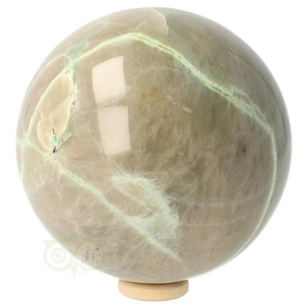 Grote foto groene maansteen bol 7.01cm verzamelen overige verzamelingen