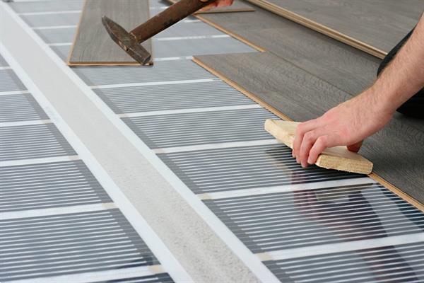 Grote foto infrarood vloerverwarming op maat 80 watt m2 50 cm breed doe het zelf en verbouw sanitair