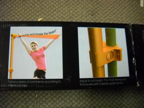 Grote foto trampoline laser juicht telt etc bij de sprongen werkt op kinderen en baby overige