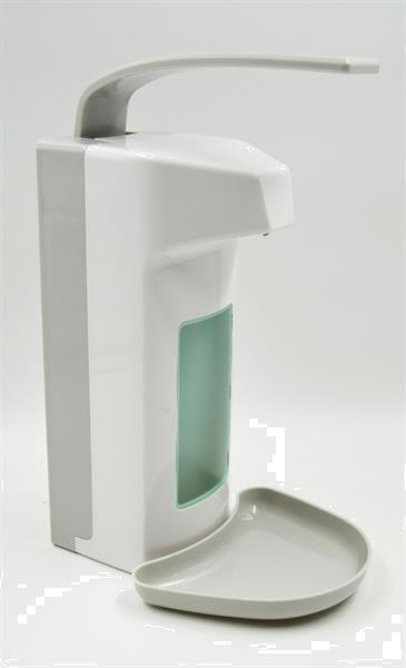 Grote foto dispenser voor desinfectiemiddel 1 liter diversen verpleegmiddelen en hulpmiddelen