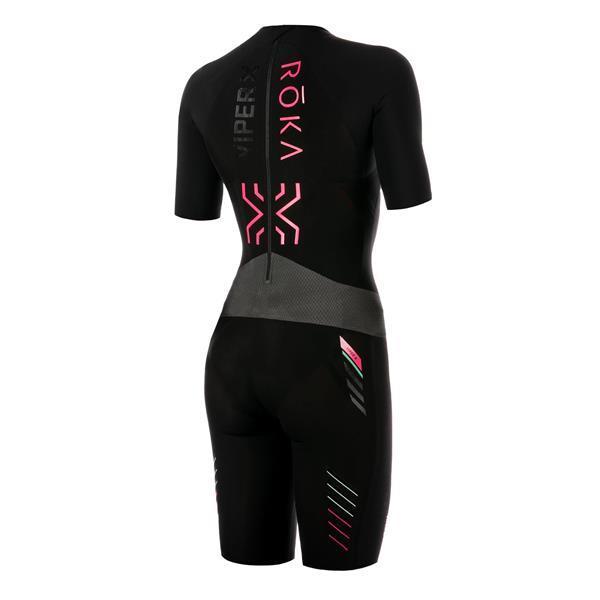 Grote foto women viper x2 short sleeve swimskin extra small black r kleding heren badmode zwemkleding