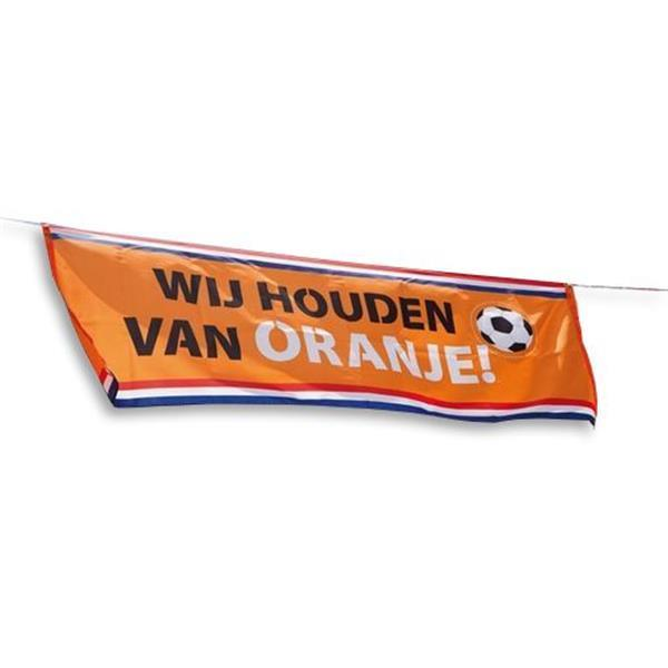 Grote foto vlag wij houden van oranje 2 2m verzamelen overige verzamelingen