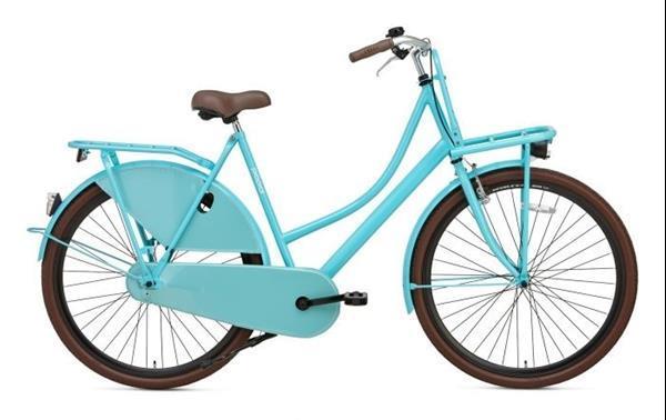 Grote foto popal carrier damesfiets groen fietsen en brommers damesfietsen