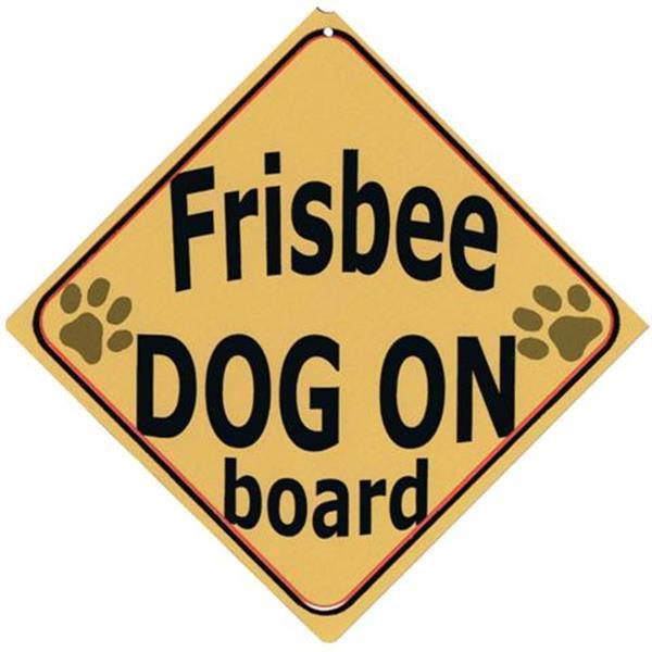 Grote foto autobordje frisbee dog on board dieren en toebehoren toebehoren