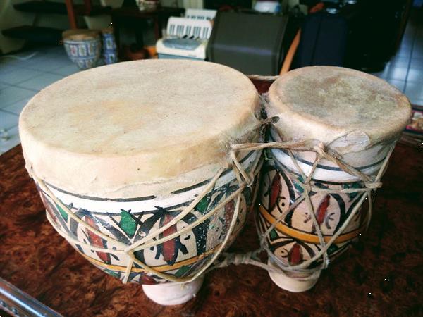 Grote foto bongo tibilat aardewerk muziek en instrumenten drumstellen en slagwerk
