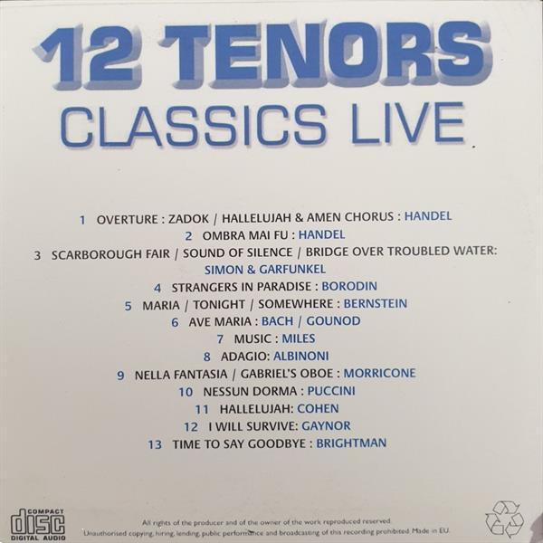 Grote foto 12 tenors classic live muziek en instrumenten cds minidisks cassettes