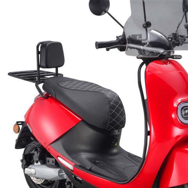 Grote foto iva e go s3 special rood glans bij central scooters kopen fietsen en brommers scooters