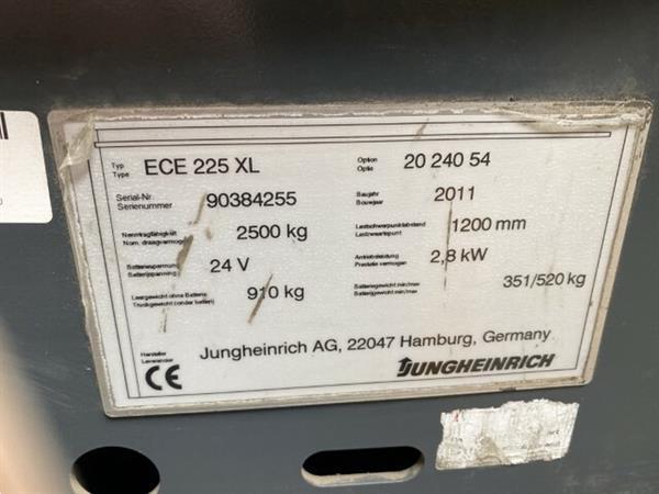 Grote foto 2011 jungheinrich ece225xl orderpicker 240cm 2500kg 2016 bat doe het zelf en verbouw hefwerktuigen