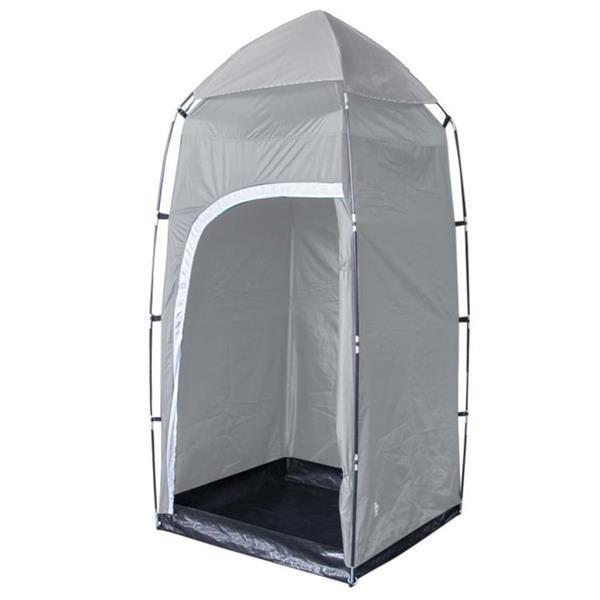 Grote foto bo camp douche wc tent 100x100x200 cm grijs caravans en kamperen kampeertoebehoren