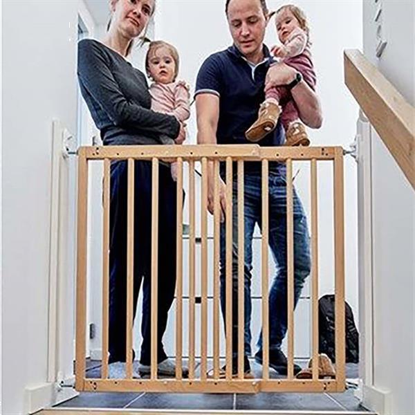 Grote foto babydan traphekje flexigate 69 106 5 cm beukenhout kinderen en baby traphekjes