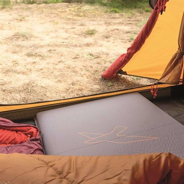 Grote foto easy camp luchtbed siesta eenpersoons 10 cm grijs caravans en kamperen kampeertoebehoren