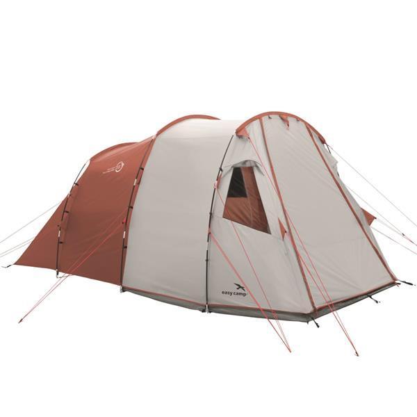 Grote foto easy camp tent huntsville 400 4 persoons rood en cr me caravans en kamperen kampeertoebehoren
