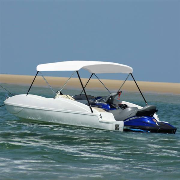 Grote foto vidaxl biminitop 2 boogs 180x130x110 cm wit watersport en boten overige watersport en boten