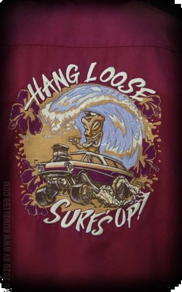 Grote foto rumble 59 bowlingshirt hang loose surf up. kleding heren t shirts