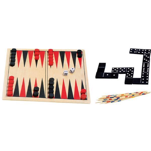 Grote foto houten spellendoos 4 in 1 kinderen en baby puzzels