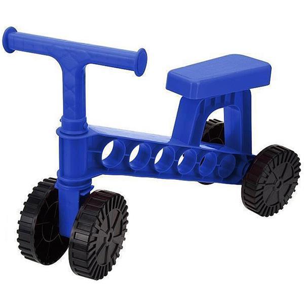 Grote foto loopfiets blauw kinderen en baby los speelgoed