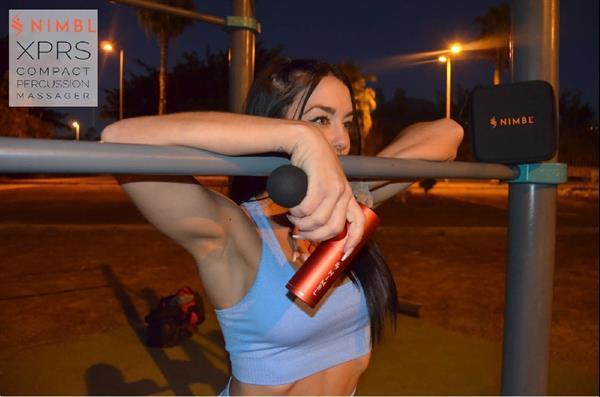 Grote foto nimbl xprs massagegun beauty en gezondheid massage