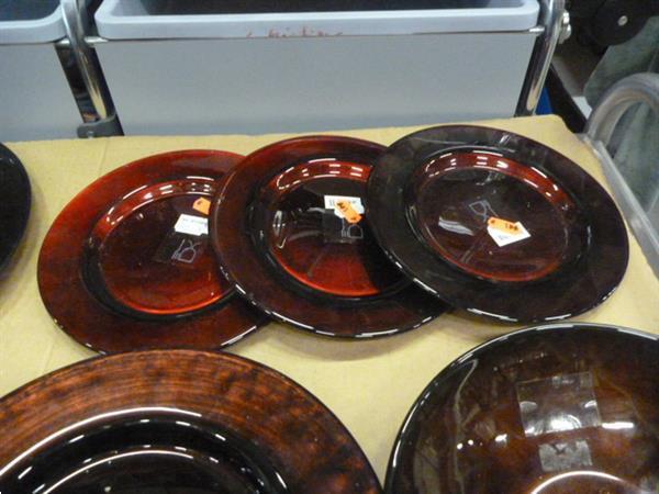 Grote foto glazen borden 7 items diversen overige diversen