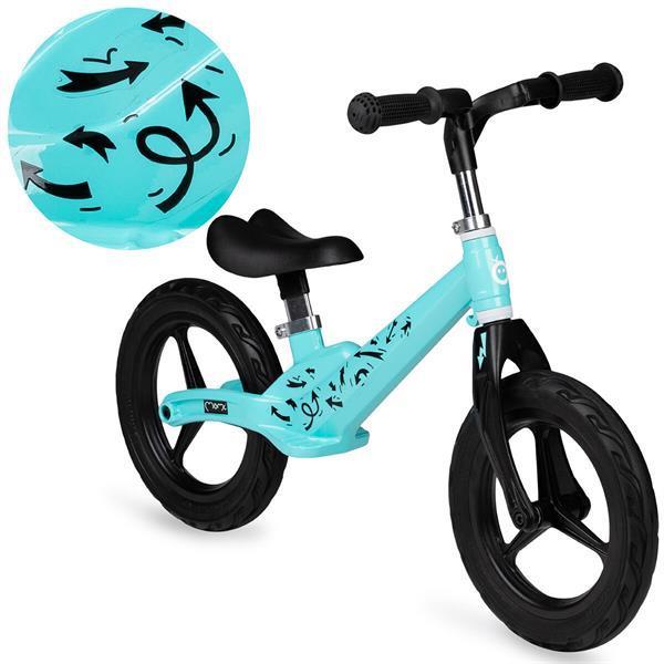 Grote foto momi ulti magnesium loopfiets balance bike turquoise arr kinderen en baby complete kinderkamers
