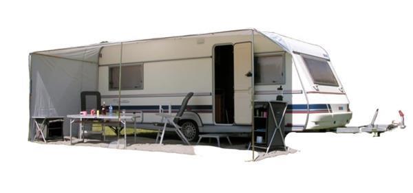 Grote foto schuifluifel caravan 820 x 240 cm polyester grijs caravans en kamperen overige caravans en kamperen