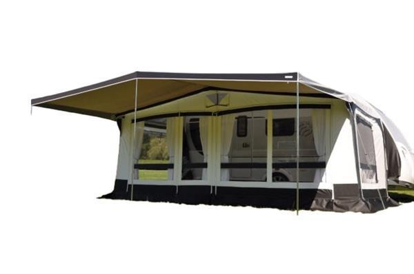 Grote foto combi luifel 485 x 240 cm polyester grijs caravans en kamperen overige caravans en kamperen