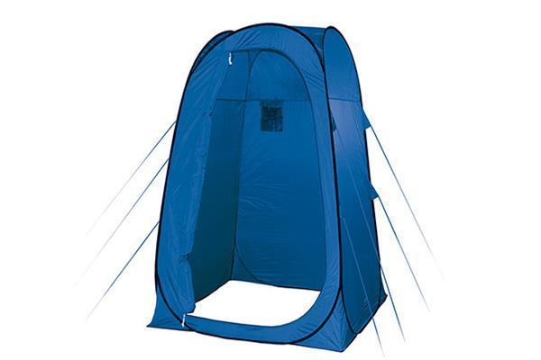 Grote foto douchetent rimini 125 cm polyester blauw caravans en kamperen tenten