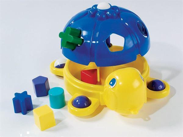 Grote foto vormenstoof schildpad blauw kinderen en baby babyspeelgoed