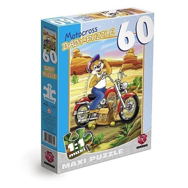 Grote foto motorcross 60 stukjes maxi kinderen en baby puzzels