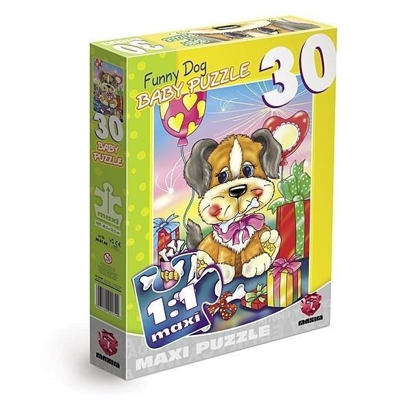 Grote foto funny dog 30 stukjes maxi kinderen en baby puzzels